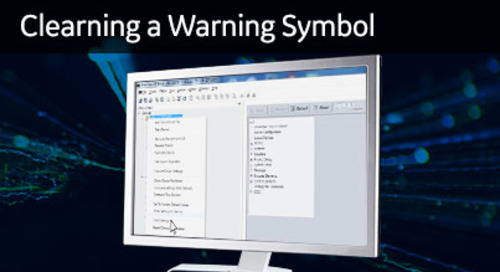 UR-1027 - Clearing a Warning Symbol