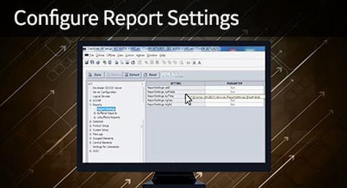 UR-1030 - Configure Report Settings