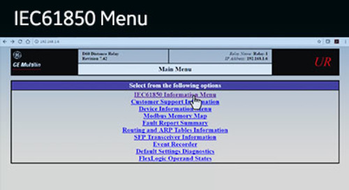 UR-1039 - View the UR WebServer - IEC61850 Menu