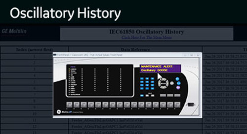 UR-1040 - View the UR WebServer - Oscillatory History