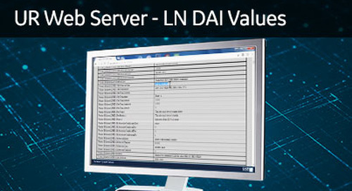 UR-1041 - View the UR WebServer - LN DAI Values