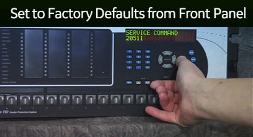 UR-1053 - Set to Factory Defaults from Front Panel