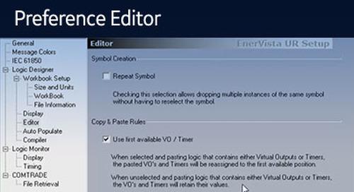 UR-1083 - Logic Designer - Preference Editor