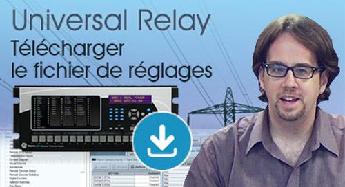 Multilin Universal Relay - Télécharger le fichier de réglages