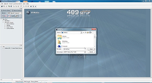 Multilin 489 - Download Setting Files