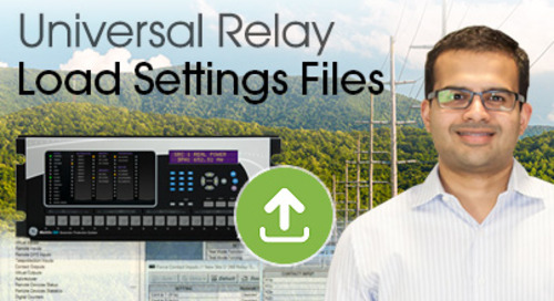 Multilin Universal Relay - Load Settings File