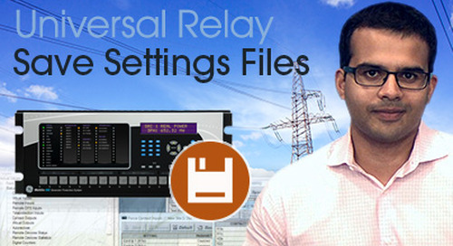 Multilin Universal Relay - Save Settings File