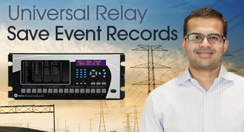 Multilin Universal Relay - Save and Evaluate Events Recording