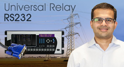 Multilin Universal Relay - Communicate Using Front RS232 Port