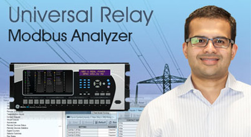 Multilin Universal Relay - View Data Using Modbus Analyzer