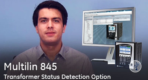 Multilin 845 - Transformer Status Detection Option