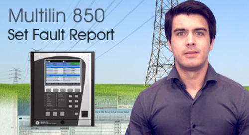 Multilin 850 - How to Set Fault Report