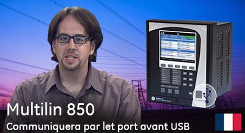 Multilin 850 - Communiquer à l'aide du port avant USB