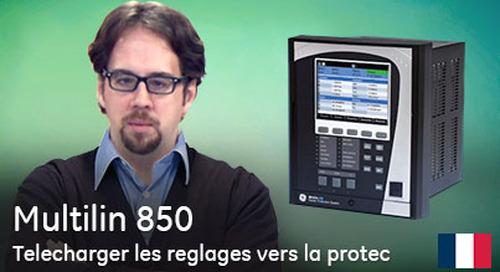 Multilin 850 - Télécharger les réglages vers la protection