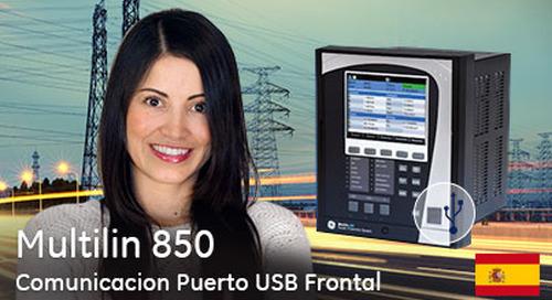 Multilin 850 - Comunicación a través del puerto USB frontal