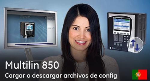 Multilin 850 - Cómo cargar o descargar archivos de configuración