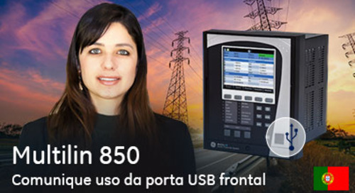 Multilin 850 - Comunique Uso da porta USB frontal