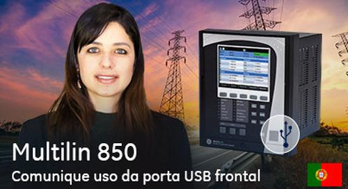 Multilin 850 - Comunique Uso da porta USB frontal