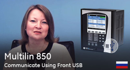 Multilin 850 - Подключение с помощью переднего порта USB