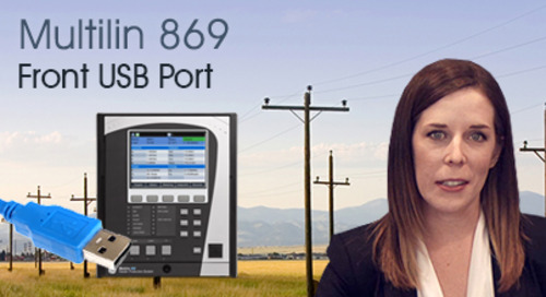 Multilin 869 - Communicate Using Front USB Port