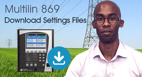Multilin 869 - Download Setting Files