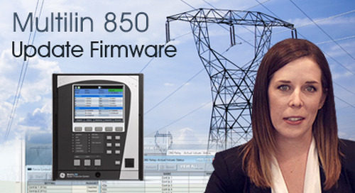 Multilin 850 - Update Firmware in an 8 Series Relay