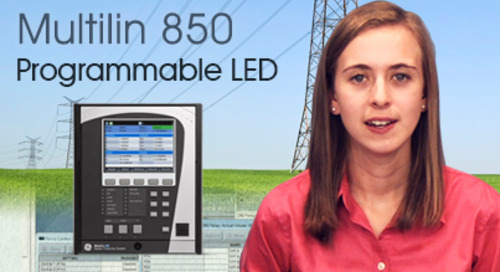 Multilin 850 - Set the Programmable LED