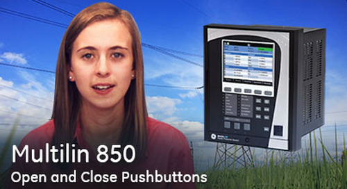 Multilin 850 - Open and Close Programmable Pushbuttons