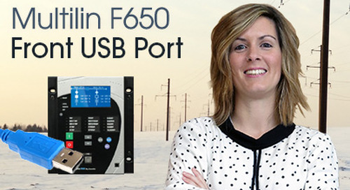 Multilin F650 - Communicate Using Front USB Port