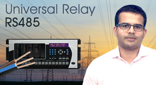 Multilin Universal Relay - Communicate using rear RS485 port