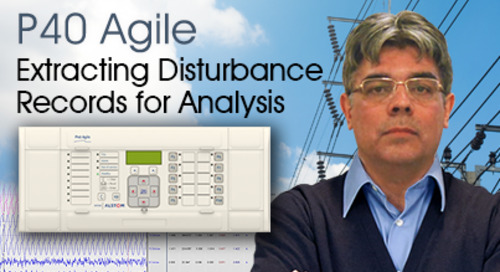 P40 Agile - Extracting Disturbance Records for Analysis