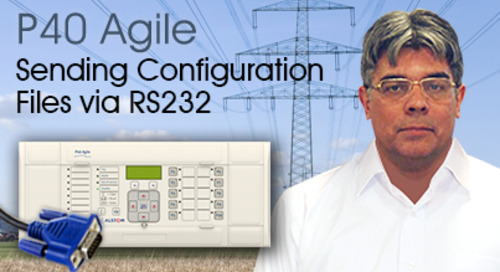 P40 Agile - Sending Configuration Files via RS232