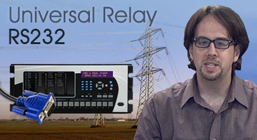 Multilin Universal Relay - Communiquer à l'aide du port avant RS232