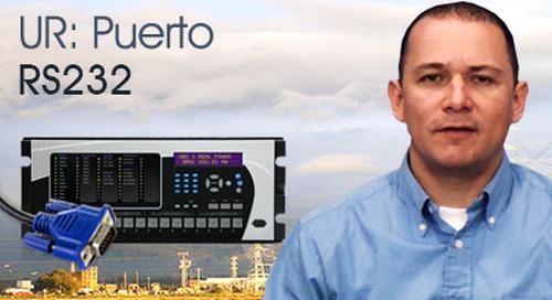 Multilin Universal Relay - Comunicación usando el Puerto RS232