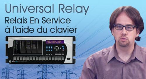 Multilin Universal Relay - Configurer le relais En Service à l'aide du clavier