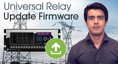 Multilin UR - Update firmware