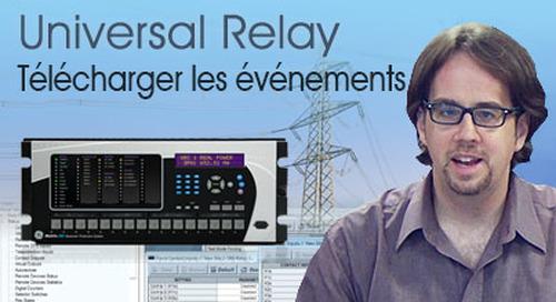Multilin Universal Relay - Télécharger et sauvegarder les événements