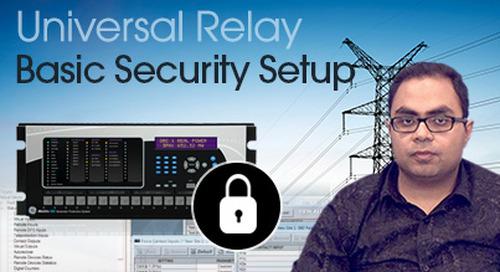 Multilin Universal Relay - Basic Security Setup