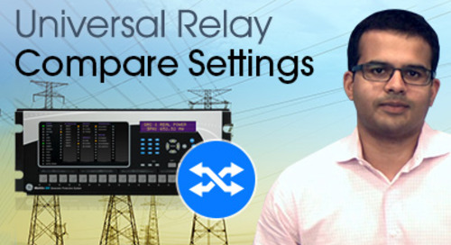 Multilin Universal Relay - Compare Setting Files