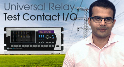 Multilin Universal Relay - Test Contact I/O