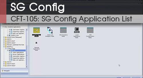 CFT-103 | SG Config Application List v1