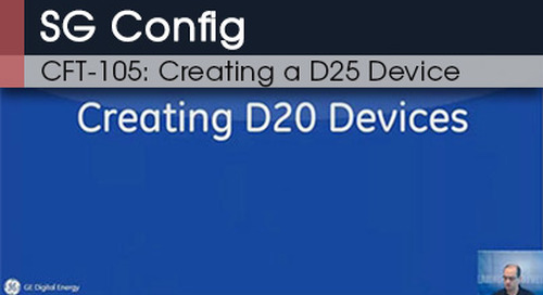 CFT-105 | SG Config Creating A D25 Device