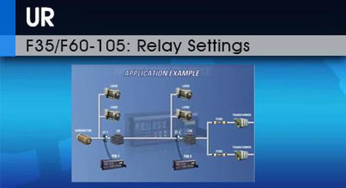 F35/F60-105 | Relay Settings v1