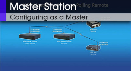 MDS Master Station Configuring as a Master or a Polling Remote Command Line & Web Interface v1 0