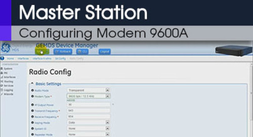 MDS Master Station Configuring Modem 9600A Command Line & Web Interface v1 0