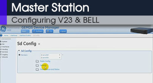 MDS Master Station Configuring Modem V23 & BELL Command Line & Web Interface v1 0