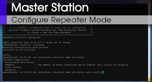 MDS Master Station Configuring Repeater Mode Command Line & Web Interface V1 0