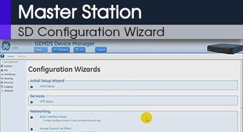 MDS Master Station Overview of the SD Configuration Wizard v1 0