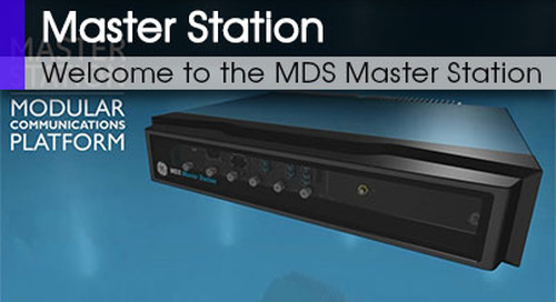 MDS Master Station Welcome to the MDS Master Station v1 2