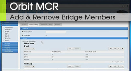 Orbit™ MCR | Adding and Removing Bridge Members v1.2